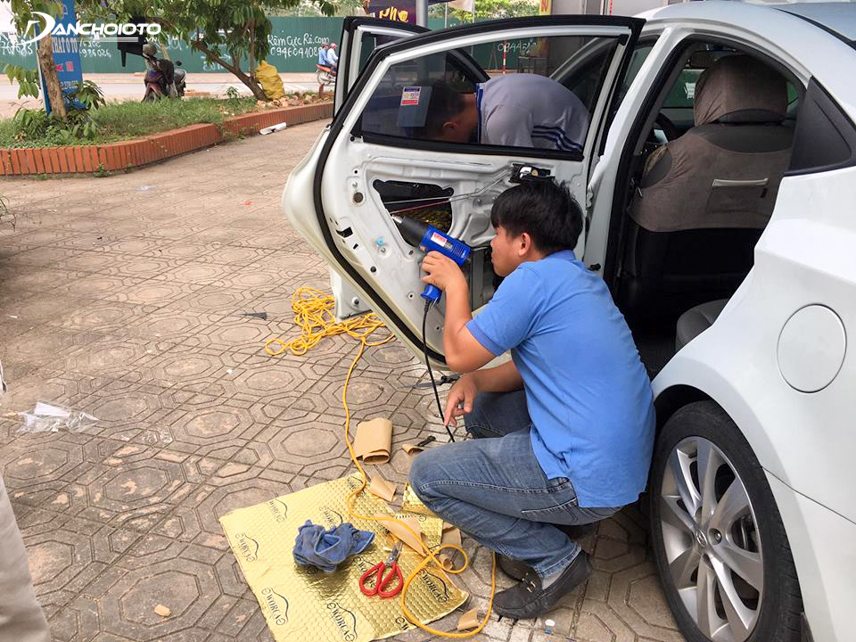 Noise protection for car doors