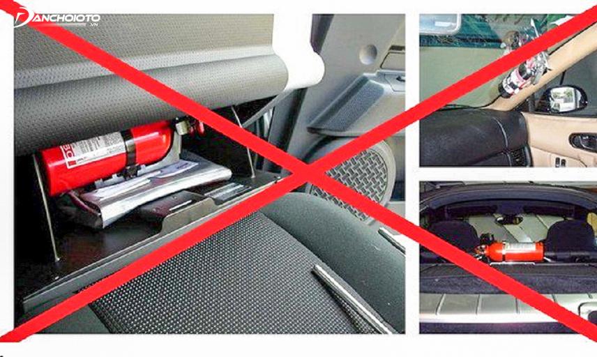 Không đặt những đồ dễ gây cháy nổ trên xe ô tô