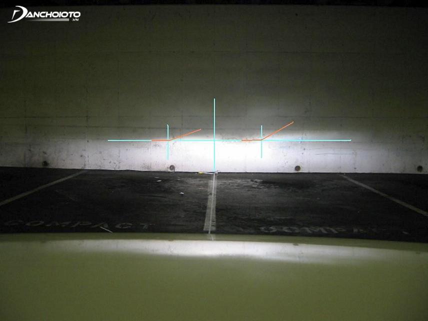 Kiểu tra độ cao và độ chụm của 2 chùm sáng