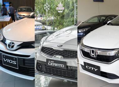 nên mua Toyota Vios, Honda City hay Kia Cerato