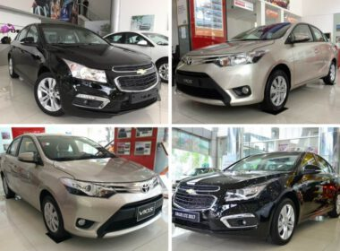 So sánh Chevrolet Cruze và Toyota Vios