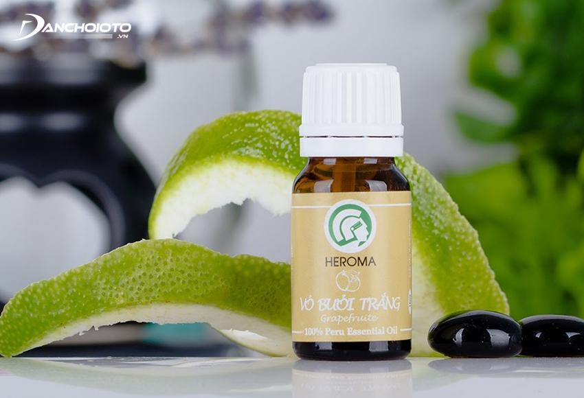 Tinh dầu bưởi giúp khử mùi, khử khuẩn, thanh lọc không khí rất tốt