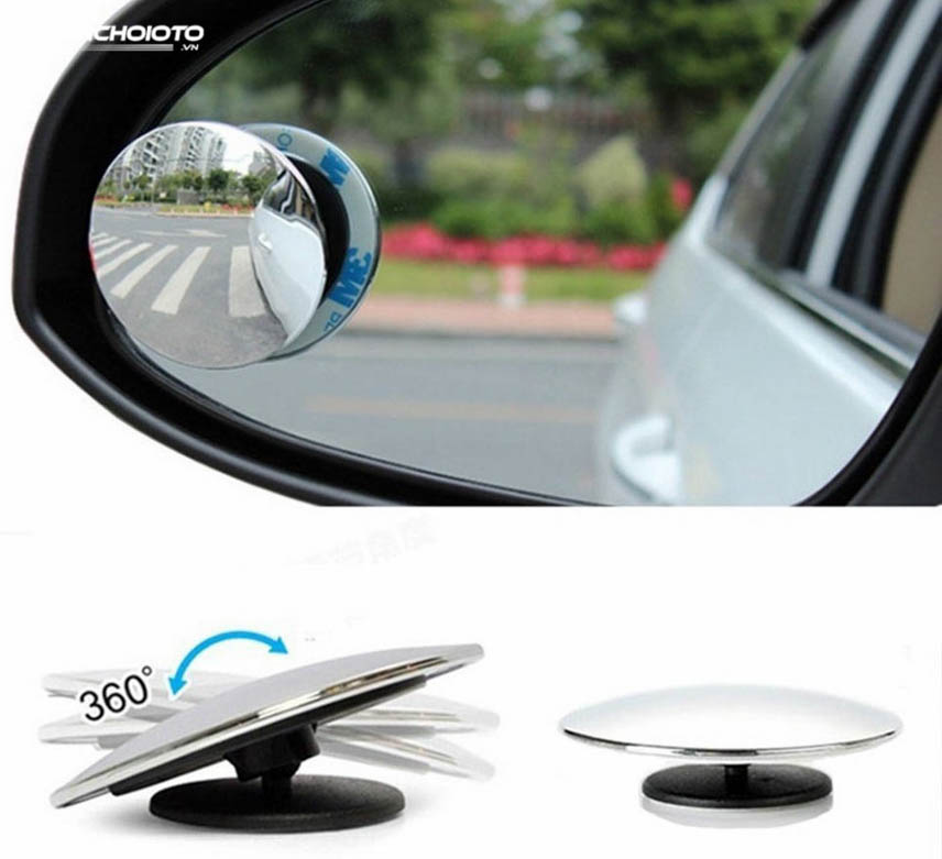 Convex mirror with 360-degree rotation