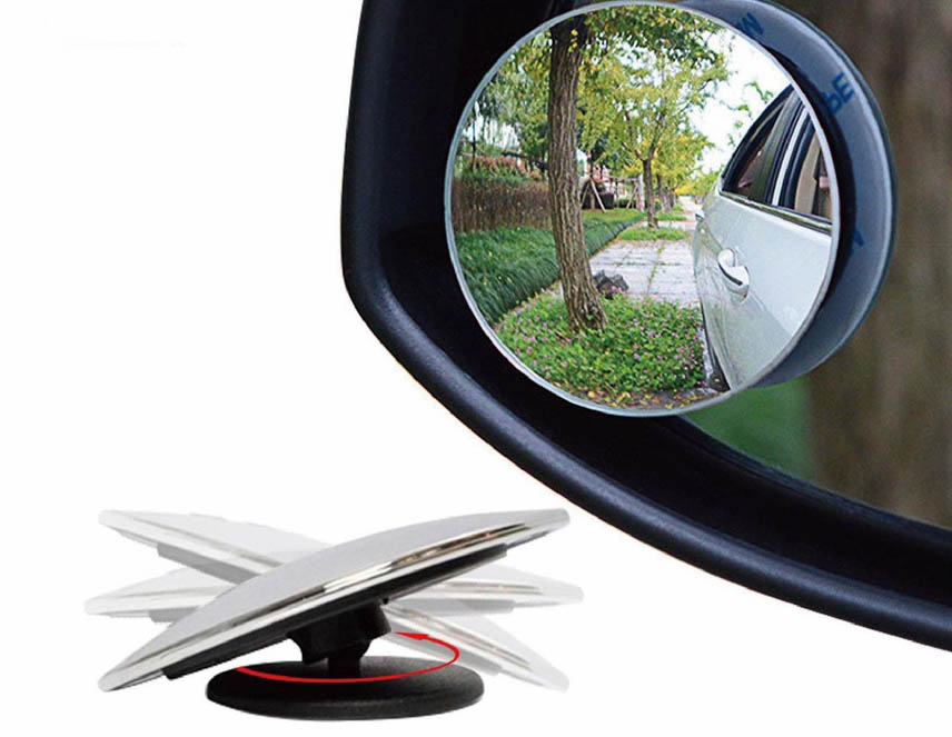 Spherical mirror with 360-degree rotating flexible shaft