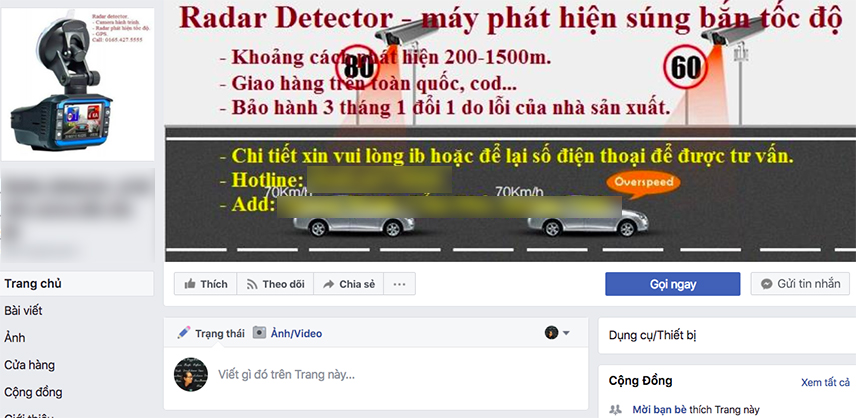 Speed detectors are sold