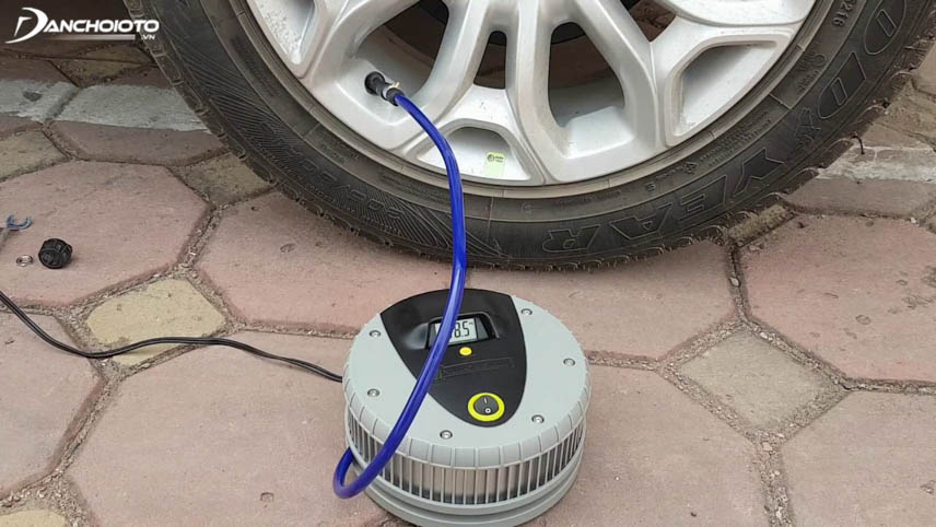 Electric car pumps support tire pressure at all times