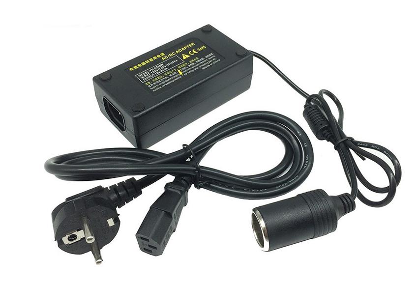 Máy bơm hơi mini ô tô 220V cần có bộ chuyển nguồn nếu xe không có ổ cắm 220V