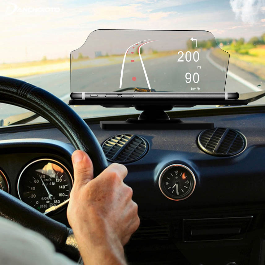 The driver will see information on the screen that matches the actual scene