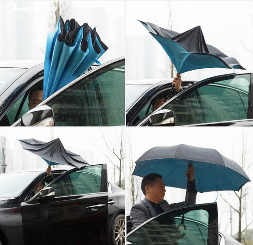 Umbrellas can fold / open easily in extremely tight spaces