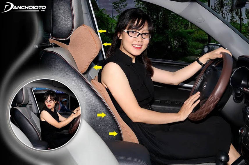 Using a headrest pillow minimizes injuries when the vehicle is in an accident