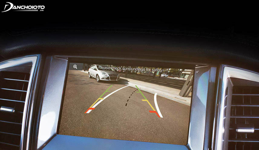 Reverse camera reduces blind spot behind the car