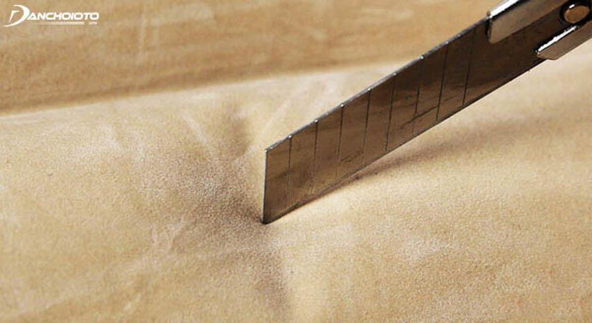 Chất liệu của đệm tốt thường chuẩn dày dặn, khó có thể làm rách