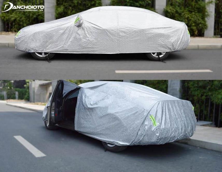 Bạt chống nóng phủ toàn thân xe có nhiều ưu điểm hơn