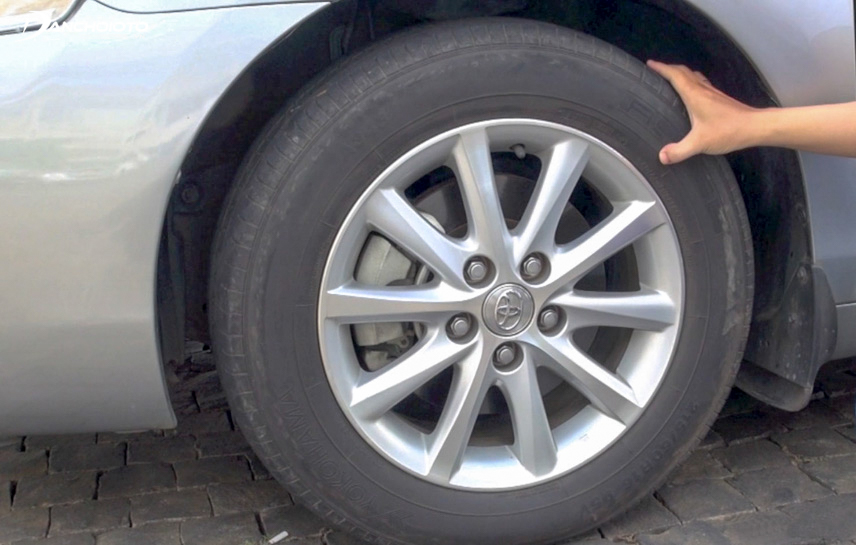 Melting tires give the car the smell of burning rubber