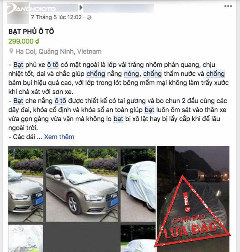 Một trang cá nhân bán bạt chống nóng ô tô giá rẻ