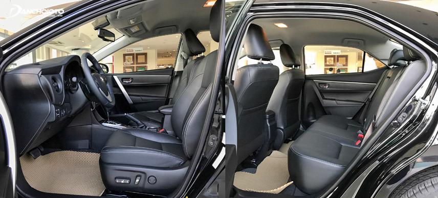 Toyota rất tự hào đem đến một không gian nội thất thoải mái cho người dùng khi sở hữu xe