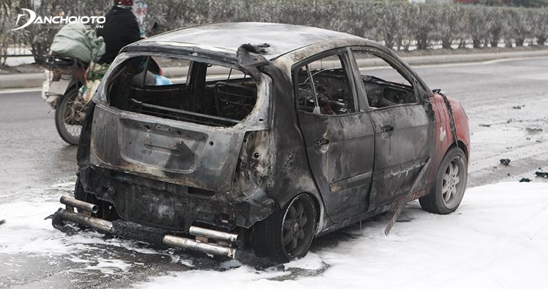 Xe có nguy cơ cháy nổ khi nhiệt độ tăng cao
