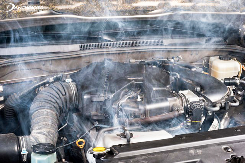 The car engine is too hot