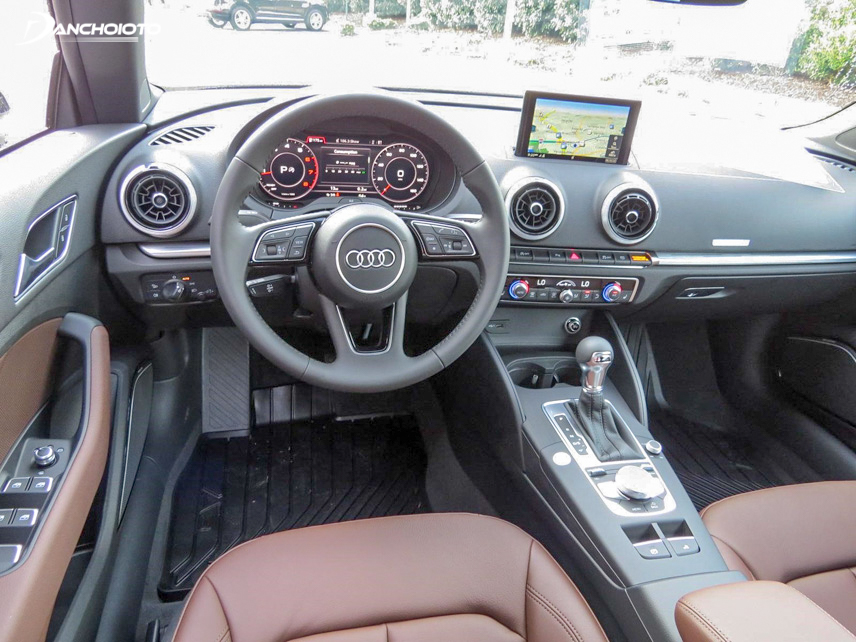 Although space is limited, but Audi A3 still helps users to have comfortable seats