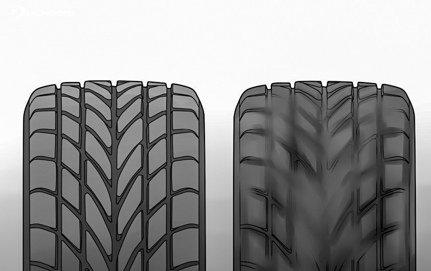 Check the tires carefully to find the car's suspension failure