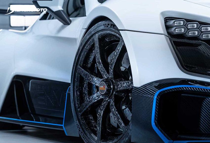 Mâm sợi Carbon ô tô có tính khí động học tốt, khối lượng nhẹ, độ cứng cao