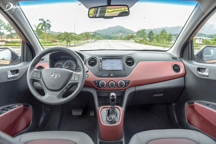 Nội thất hatchback và sedan i10 đều được trang bị nhiều tính năng tiện nghi, hiện đại
