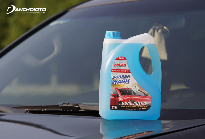 Car glass cleaner is a liquid detergent that is often diluted with water when in use
