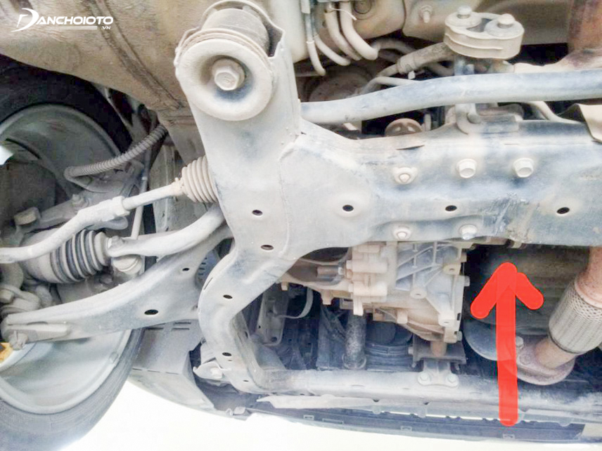 The rattling under the car can be caused by the crack of the rubber cushion