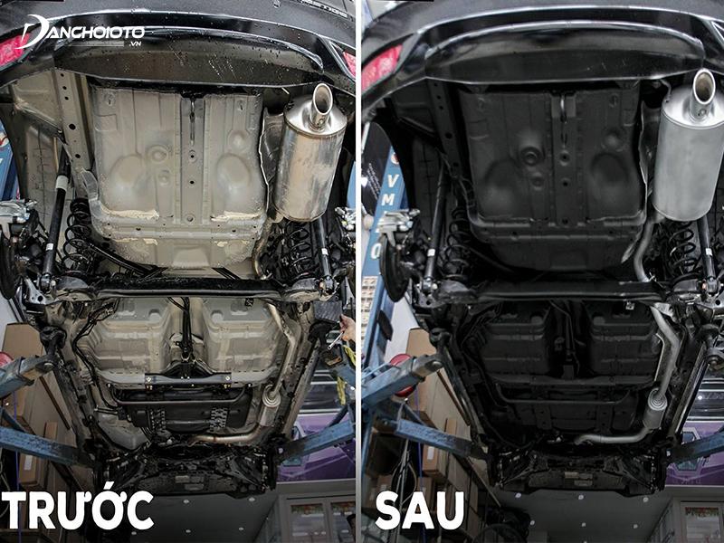 Xịt phủ gầm ô tô giúp gầm xe sạch đẹp hơn