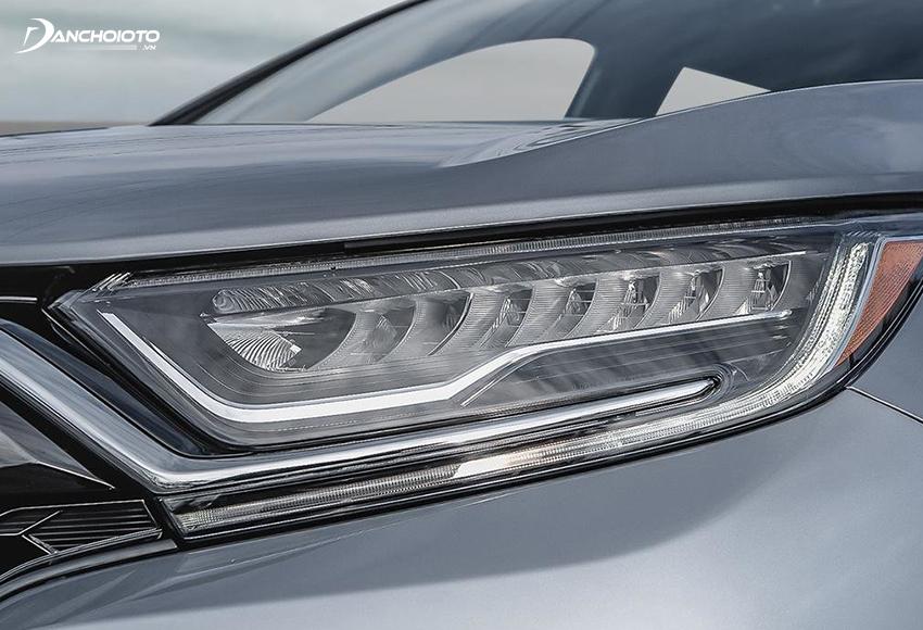 Cụm đèn trước Honda CR-V 2020 nhấn sâu, kiểu dáng sắc sảo