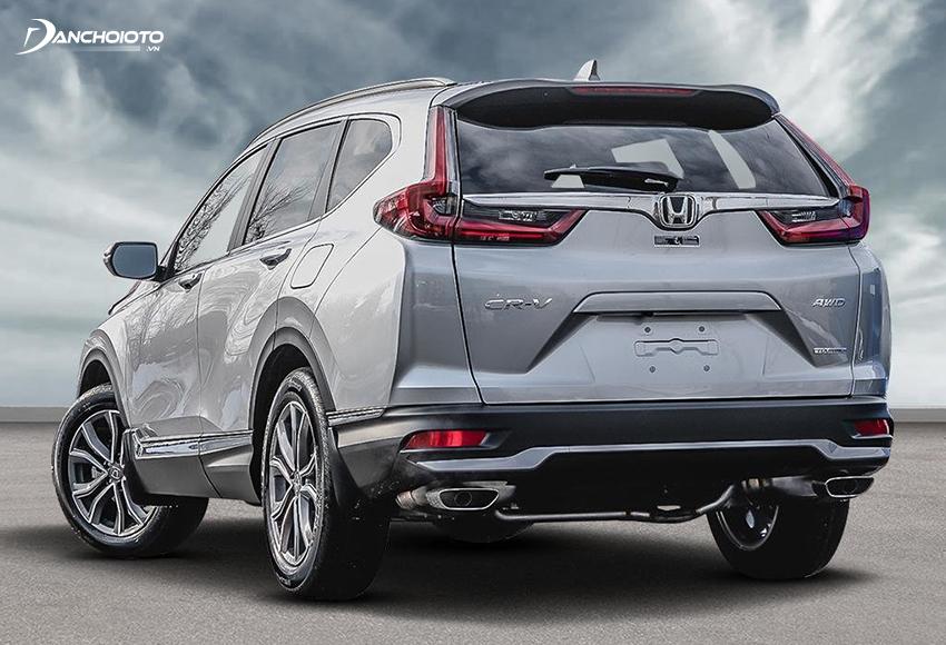 Đuôi xe Honda CR-V 2020 trông gọn gàng, thể thao