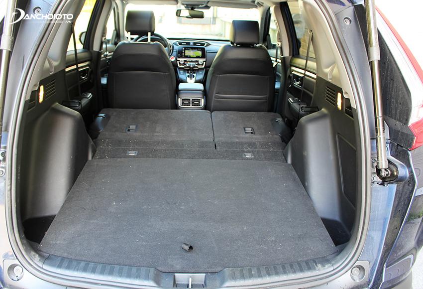 Khoang hành lý Honda CRV không quá rộng