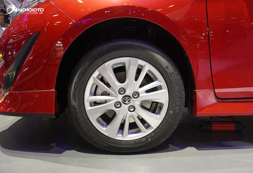Toyota Vios 2020 sử dụng mâm kích thước 15 inch