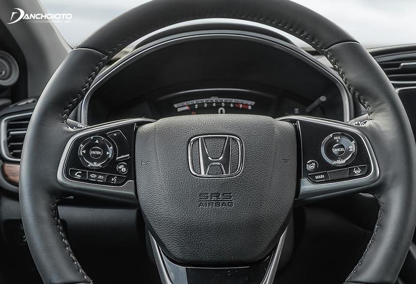 Vô lăng Honda CR-V 2020 thiết kế khá thanh thoát và sang trọng