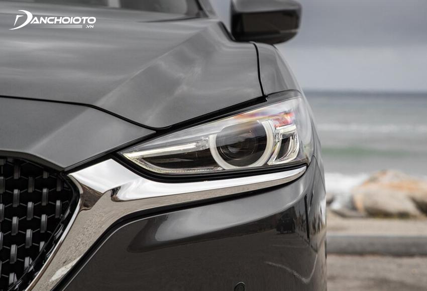 Cụm đèn trước Mazda 6 2020 chuốt mỏng nhấn nhá thần thái