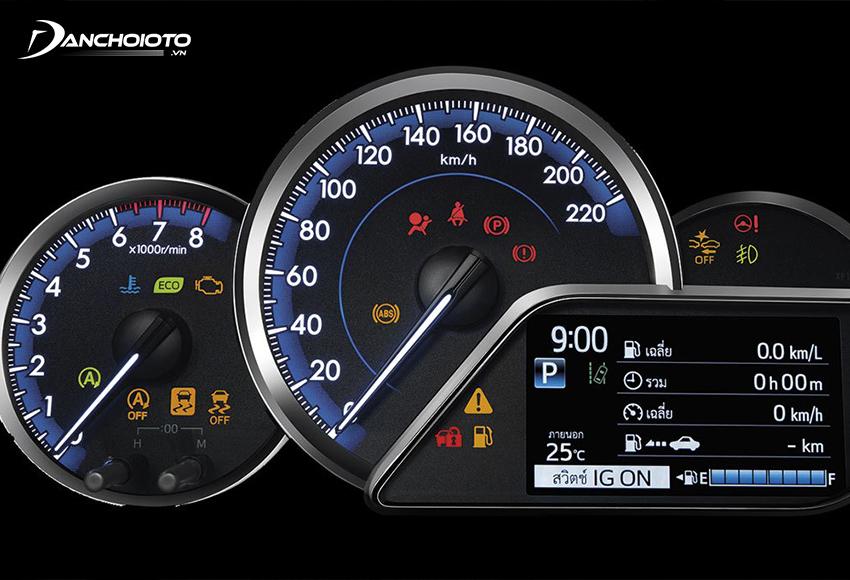 Cụm đồng hồ Toyota Yaris 2020 – 2021 có giao diện thân thiện và bắt mắt hơn trước