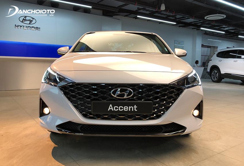 Đầu xe chính là nơi diễn ra sự đổi mới mạnh mẽ nhất trên Hyundai Accent 2021