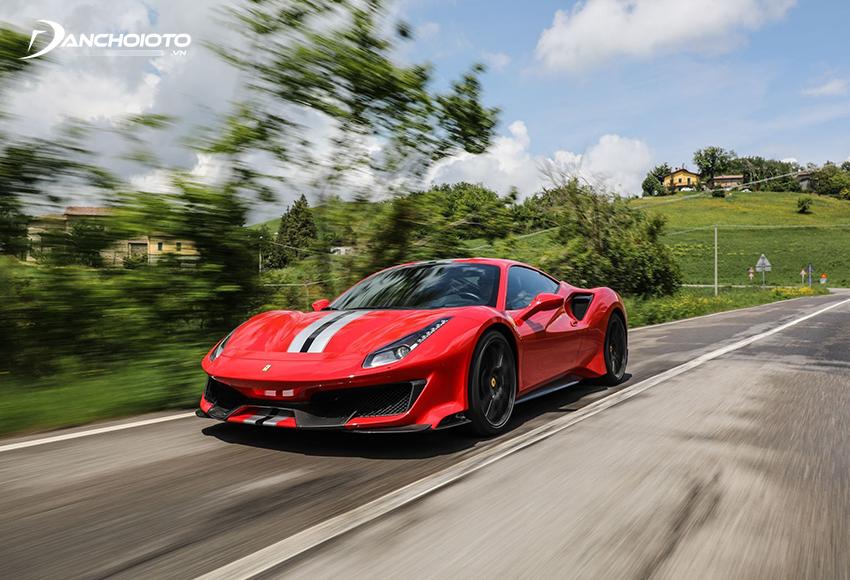 Ferrari 488 được thiết kế chú trọng tính khí động học rất cao