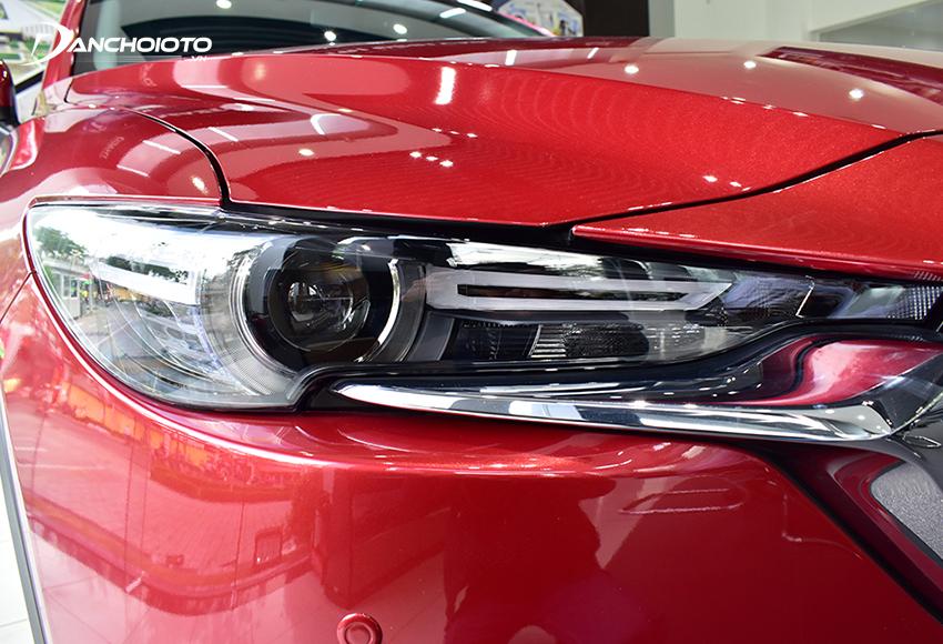 Hệ thống đèn Mazda CX-5 2020 được đánh giá cao với cụm đèn trước LED, kết hợp dải đèn ngày LED đẹp mắt