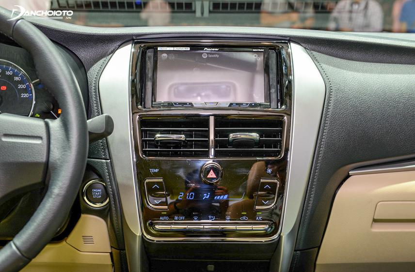 Hệ thống giải trí trên Toyota Vios