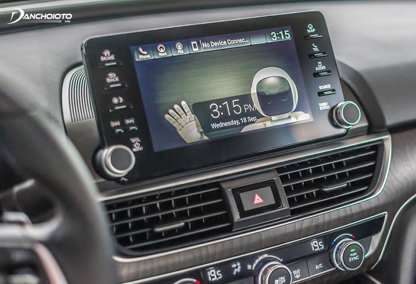 Honda Accord 2020 được trang bị màn hình trung tâm cảm ứng 8 inch