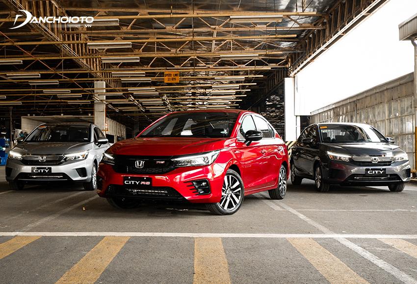 Honda City 2021 có 3 phiên bản