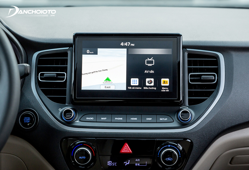 Hyundai Accent 2021 được nâng cấp lên màn hình giải trí 8 inch với giao diện mới