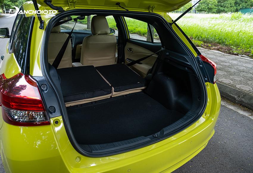 Khoang hành lý Toyota Yaris 2020 - 2021 có dung tích hơn 320 lít