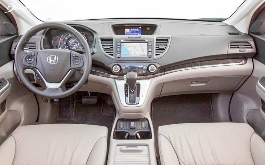 Khu vực điều khiển xe CR-V 2013