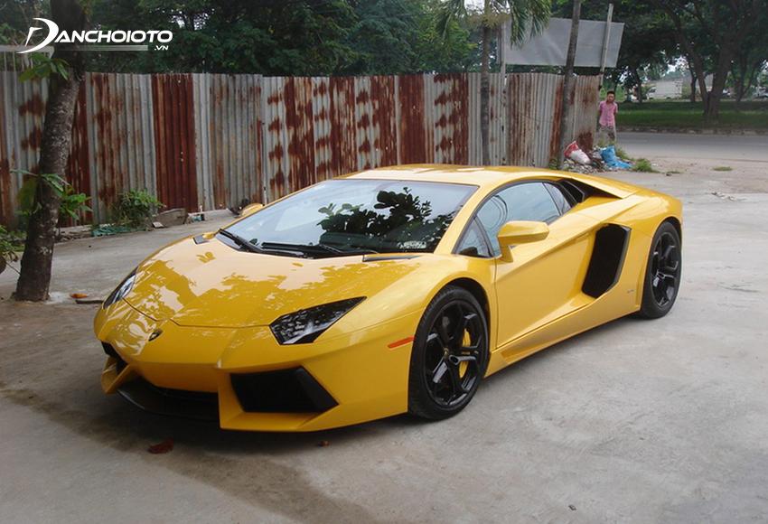Lamborghini Aventador màu vàng của doanh nhân Cường Đô La