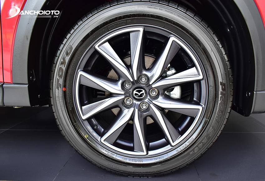 Lazang Mazda CX-5 2020 sử dụng loại 19 inch đi cùng bộ lốp 225/55R19