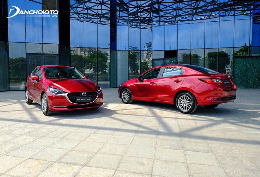Mazda 2 2020 cũng mang đến 2 sự lựa chọn dòng xe sedan 4 cửa hay Sport hatchback 5 cửa