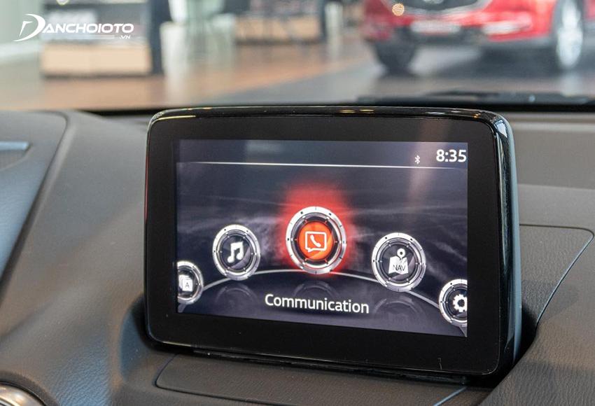 Mazda 2 2020 Luxury và Premium được trang bị màn hình cảm ứng trung tâm 7 inch tích hợp Mazda Connect