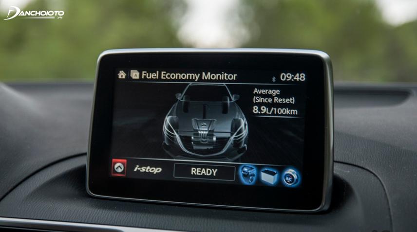 Mazda Connect cung cấp đầy đủ các thông tin cần biết về xe